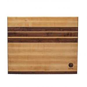 Extra Large Maple Cutting Board with Walnut Accent