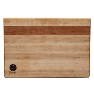 Maple Cutting Board with Cherry Accent