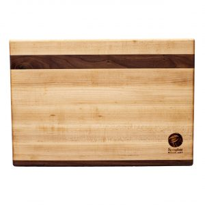 Maple Cutting Board with Walnut Accent